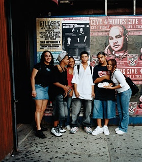 Teenagers on Smith Street, in Cobble Hill.