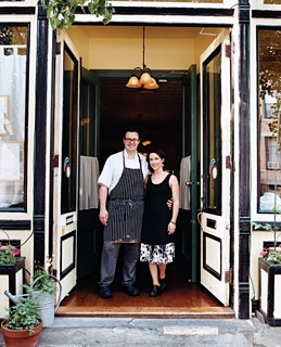 David and Laura Shea, the owners of Applewood, in Park Slope.