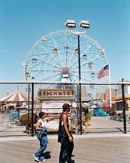 The Wonder Wheel, as seen from the Coney Island boardwalk.