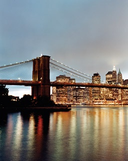The Brooklyn Bridge and Lower Manhattan, as seen from Dumbo.