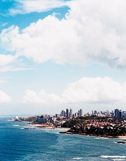 A view of Salvador, on the Bay of All Saints.