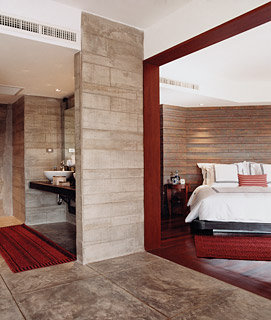 A Pearl Bed suite at the Indigo Pearl.