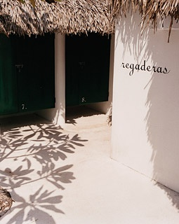 Azúcar's outdoor showers.