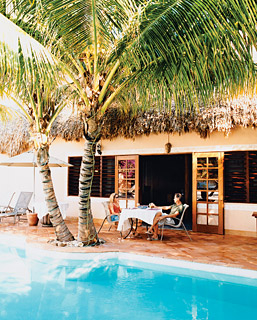 The pool at Mata Chica, in Belize.