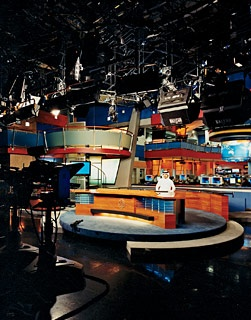A view of the Al-Jazeera TV studio