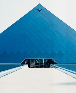 The pyramid at the Infosys campus, just outside the city.