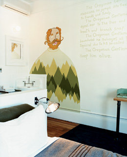 Ace Hotel's room No.308, done by local artist Scrappers.