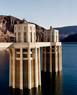 Hoover Dam, 30 miles from Las Vegas.