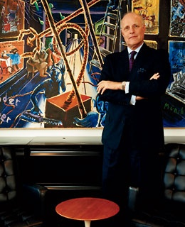 Dallas Museum of Art director John Lane, in his office.