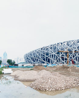 Beijing's new Olympic stadium, designed by architects Herzog and de Meuron.