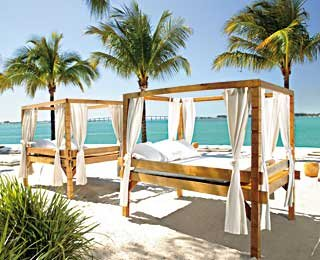 Between city and beach, Mandarin Oriental, Miami.