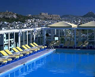 Rooftop Pool, Athens Ledra Marriott Hotel, Athens, Greece
