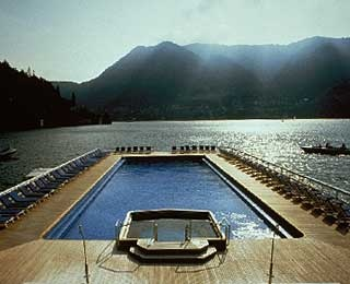 Floating Pool, Villa D'Este, Lake Como, Italy