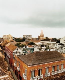 Overlooking the old city in Cartagena, founded in 1533 by Don Pedro de Heredia.