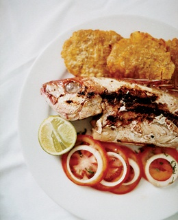 Palma's grilled parguito, a sea bass-like fish.