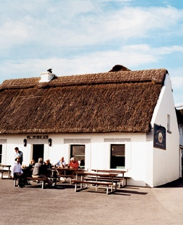 Outside Moran's Oyster Cottage, near Galway.