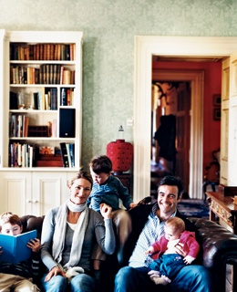 Innkeepers Justin and Jenny Green, with their children, at Ballyvolane House.