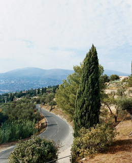 A view of Grasse from the restaurant Lou Fassum.