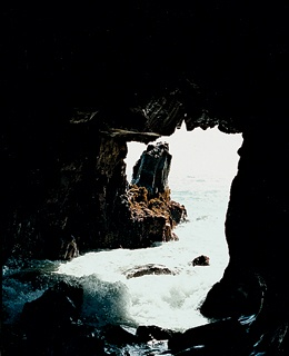 A cave at Pfeiffer Beach, four miles south of Post Ranch Inn.