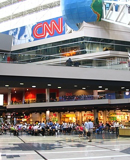 Interior of CNN Center.