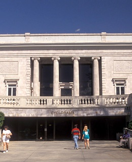 Entrance of the Cyclorama and Civil War Museum.