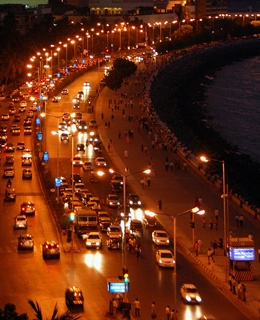 Marine Drive at twilight