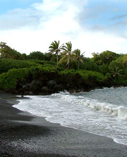 Waianapanapa Black-Sand Beach - Maui, Hawaii