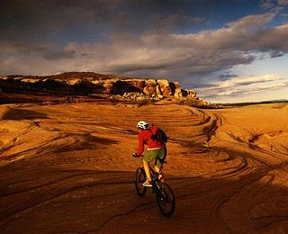 Biking in Moab, Utah