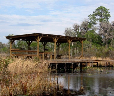 Camping Shelters in Okefenokee National Wildlife Refuge, GA