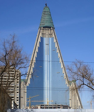 The Ryugyong Hotel,Pyongyang, North Korea
