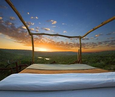 bed overlooking the majestic Kenyan country-side
