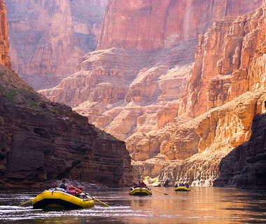 white water rafting in the Grand Canyon, AZ
