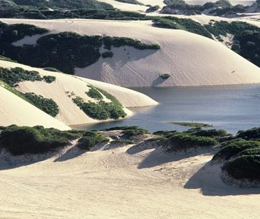 sand dunes along the coast in Brazil