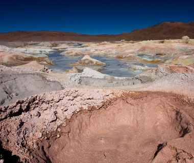 geo-thermal springs in the Bolivian altiplano in Boliva