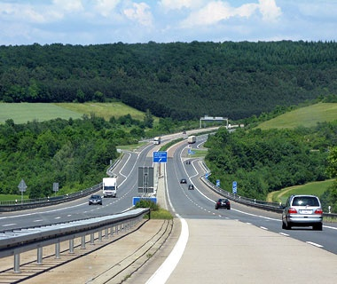The A81, Gottmadingen to Weinsberg, Germany