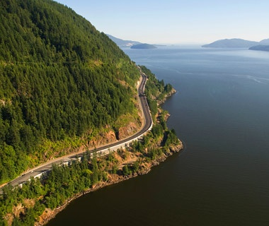 Highway 99, the Sea-to-Sky Highway, British Columbia