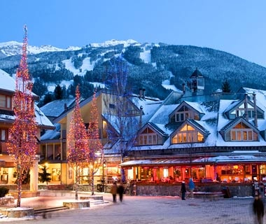 town square in Whistler, British Columbia