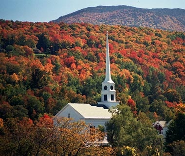 autumn in Stowe, VT