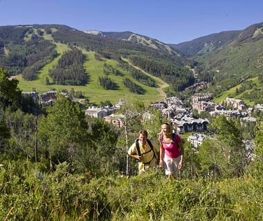 mountian hikers in Beaver Creek, CO