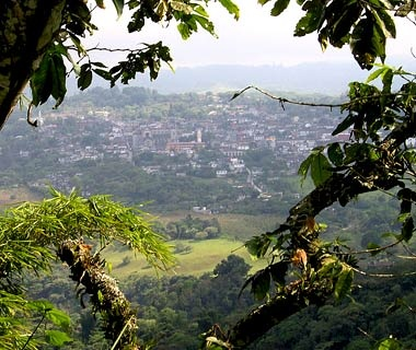 mountain view of Cuetzalan, Mexico