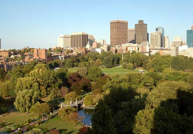 View of Boston Common from the Taj Boston.