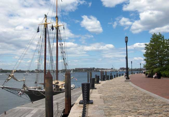 HarborWalk in South Boston.