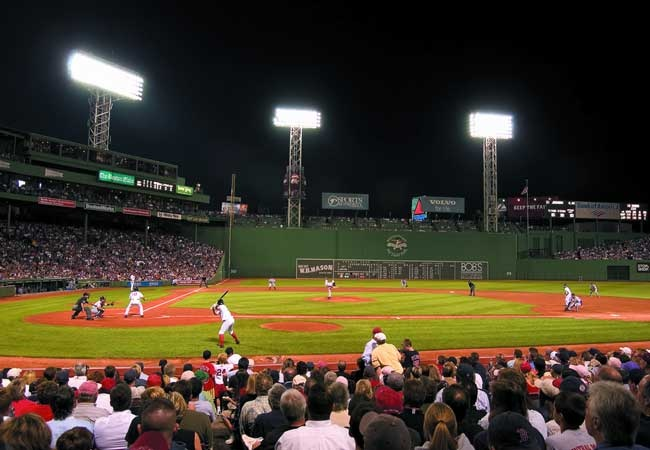 Fenway Park, home to the Boston Red Sox.