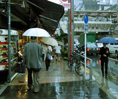Splashing Pedestrians, Japan