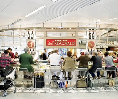 Best New BarRome: Frescobaldi Wine Bar, Rome Fiumicino Airport (FCO)