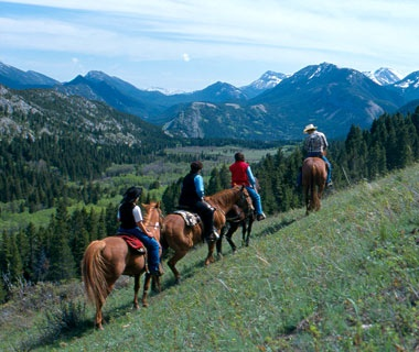 dude ranch horseback riding at Triple J Wilderness Ranch, Augusta, MT