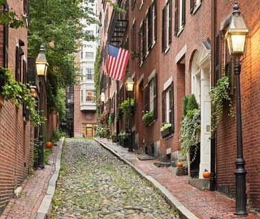 old street in Boston, Massachusetts