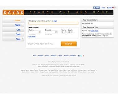 Search for Flights: Kayak.com