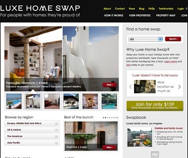 Swap for a Stylish House: LuxeHomeSwap.com