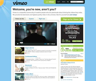 Post Your Videos: Vimeo.com